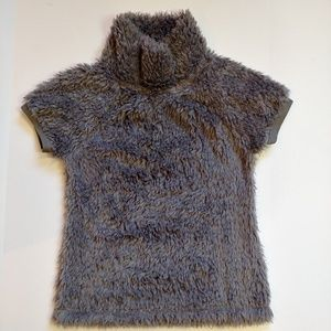 Dylan by True Grit Short Sleeve Fuzzy Pullover